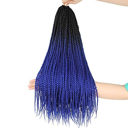 6Pack Senegalese Twist Crochet Hair Ombre Blue Box...