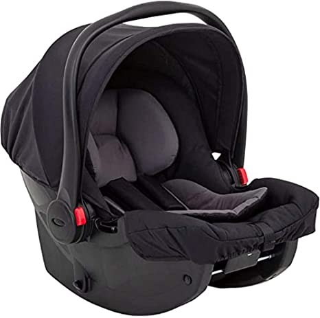 Graco SnugEssentials i-Size Infant Car Seat (Birth to 12 Months Approx, 40-75cm),ISOFIX Base Compatible, Black/Grey: image