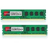 Kuesuny 16 GB Kit (2X8GB) DDR3L / DDR3 1600 MHz Udimm Ram PC3L / PC3-12800 PC3L / PC3-12800U 1,35 V / 1,5 V CL11 240 Pin 2RX8 Dual Rank Non-ECC Unbuffered Modulo di memoria RAM per computer desktop