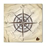 Compass Bandana, Navigation on the Sea Theme, Unisex Head and Neck Tie