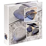 Hama Einsteckalbum Cantania (Fotoalbum für 200 Fotos im Format 10x15 cm, Album zum Einstecken, Fotobuch, Photoalbum) grau