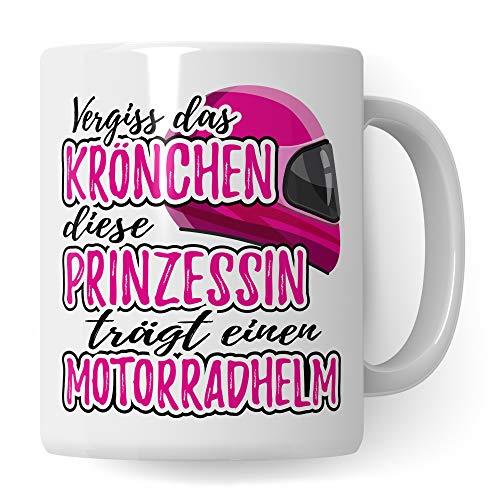 Pagma Druck Motorradfahrerin Tasse | Motorrad Geschenke für Frauen | Biker Motorradfahrer Spruch Becher Geschenkidee | Kaffeetasse Motorrad Kaffeebecher