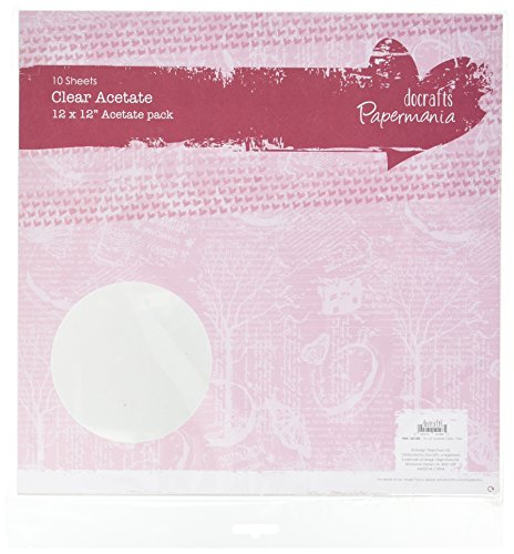 Papermania 12 x 12-Inch Plain Acetate Sheet, Pack of 10