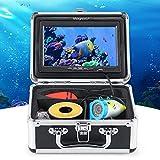 Magreel - Cámara subacuática con visión nocturna, visor de pez, cámara subacuática, accesorios, monitor LCD de 7 pulgadas / 1000TVL móvil, cable de 15 m