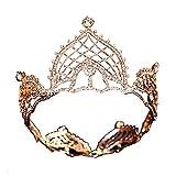 AMY-XCQ Corona, Aretes De Tiara De Boda Nupcial Set Princesa Reina Cumpleaños Fiesta De Graduación Regalo Estilo Retro