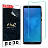 J&D Compatible for Huawei Honor 7X/Huawei Mate SE Screen Protector (8-Pack), Not Full Coverage, HD Clear Protective Film Shield Screen Protector for Huawei Honor 7X, Huawei Mate SE Crystal Clear Film