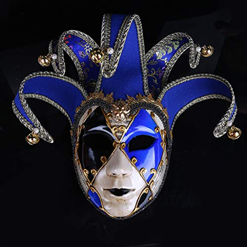 Jkhhi Vollmaske Maskerade Multicolor Handgemalte Joker Wand Dekorative Kunst Masken Festliche Party Dekoration Maske