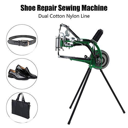 KKTECT Schuhreparaturmaschine Hand Machine Cobbler Manuelles Schuhreparatur Werkzeug Wird zur Reparatur verschiedener Schuhe und Lederprodukte verwendet Baumwollfaden Nylonfaden Nähmaschine