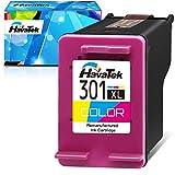 HavaTek Remanufacturado 301 301XL Tricolor Cartuchos de tinta para HP 301 XL para hp Officejet 2622 2620 4630 Deskjet 3050 3055 2540 2050 1000 1510 1512 1514 Envío 5530 4500 4507 Impresoras(1 paquete)