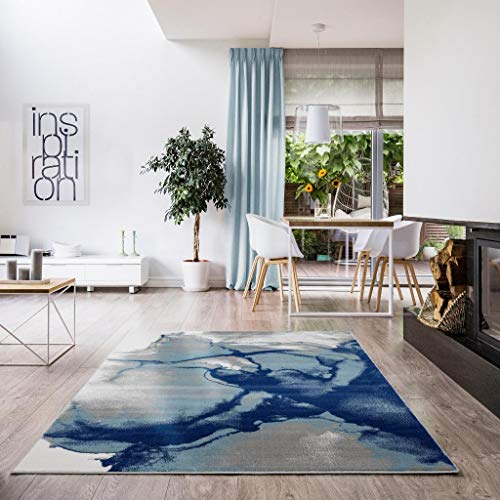 Luxe Weavers Victoria Collection Modern Area Rug 9163 Blue 8x10