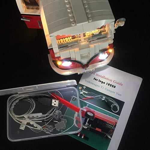 brick-light-more-store Licht-Set Für (Volkswagen T1 ) Modell - LED Licht-Set Kompatibel Mit Lego 10220(Modell Nicht Enthalten)