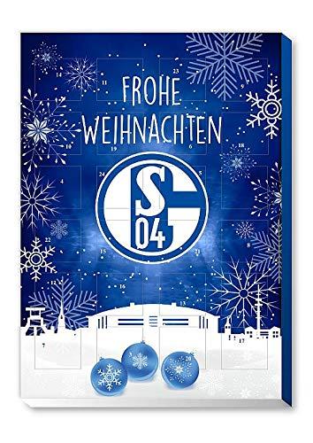 FC Schalke 04 - S04 - Adventskalender 2019 - Schoko - Weihnachtskalender 2019 - Bundesliga - Fanartikel - Fußball - (EUR 7,45/100g)