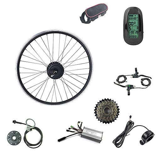 Schuck 48V500W Kit de Bicicleta eléctrica Kit de Rueda de Motor Giratorio Trasero de 27.5 Pulgadas Kit de Bicicleta eléctrica Piezas de Bicicleta eléctrica Pantalla LCD6