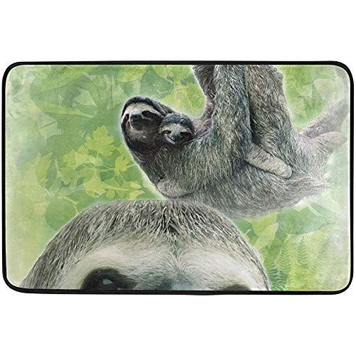 Klotr Zerbino, Hand Drawn Sloth Non-Slip Door Mat Home Decor by, Welcome Mat Durable Indoor Outdoor Entrance Doormat 23.6 X 15.7 Inches