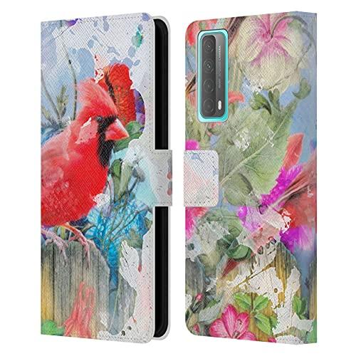 Head Case Designs Licenciado Oficialmente Aimee Stewart Pájaros y florecer Diseños Surtidos Carcasa de Cuero Tipo Libro Compatible con Huawei P Smart (2021)
