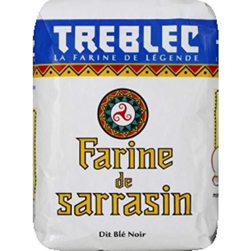 Treblec - Farine De Sarrasin Dit Blé Noir - 1Kg - Lot De 4 - Prix Du Lot - Livraison Rapide En France Métropolitaine Sous 3 Jours Ouverts