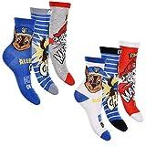 PAW PATROL 6er Pack Jungen Socken Strümpfe vielen verschiedenen Muster & Designs (Mix 9, 31-34)