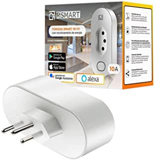 Tomada Inteligente Smart Plug Wi-Fi RSmart 10A Ligue ou Desligue seus Eletrodomésticos Através do Celular Compatível com A...