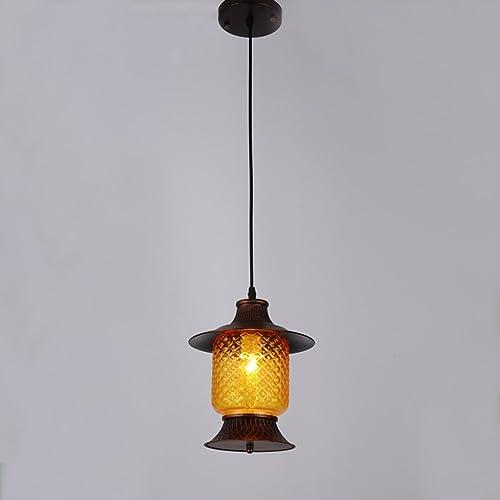 Ywyun Lustre rétro à tête unique en fer, simple plafonnier à LED, évier urbain de style américain décoration décoration lumières décoratives