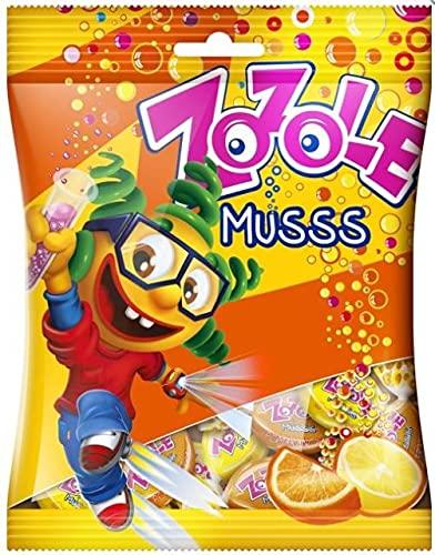 26x Zozole Orange-Lemon-Brause-Bonbons 75g Mieszko (Karton)