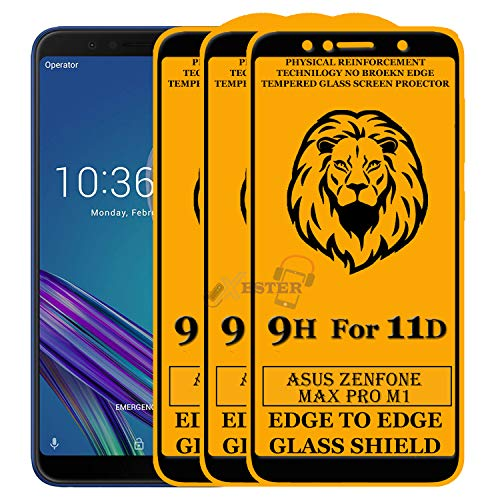 Xester Screen Protector for Asus Zenfone Pro M1,Tempered Glass Edge to Edge Full Screen Coverage with Easy installaition kit -[3 Pack]