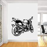 Calcomanía de pared de Motocross deportes de velocidad extrema motocicleta vinilo ventana pegatina dormitorio adolescente hombre cueva garaje decoración del hogar papel tapiz