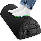 Mixoo Foot Rest Under Desk, Ergonomic Footrest Stools Cushion Pillow with High-Density Memory Foam Stays Soft Yet Firm, Non-slip Portable Desk Foot Rest Stool for Office Work and Home