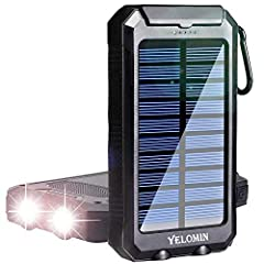 High Quality Portable Solar Charger - Made of durable and reliable ABS+PC+Silicone material.Solar phone charger, featured with compass and 2 bright LED flashlight. Awesome for outside activities such as camping, hiking and other emergency use. The so...