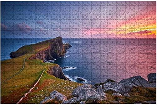 1000 piezas-Neist Point Lighthouse Isle of Skye Escocia Reino Unido Rompecabezas de madera DIY Niños Rompecabezas educativos Regalo de descompresión para adultos Juegos creativos Juguetes Rompecabeza