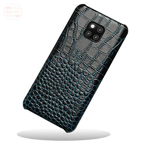 Yidai-Silu Huawei Mate 20X Echt Lederhülle 【Krokodil Muster, Anti-Fingerabdruck】 Rindsleder Etui Back Cover Handy Tasche Kratzfest Phone Hülle für Huawei Mate 20X 7,2
