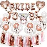 Bride to Be Globos Banner para Fiestas de Despedida de Soltera con Globos de Oro Rosa, Confetti Globos par Hen Party Decoration Accesorios de decoración de Fiesta de gallina