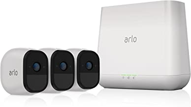 Arlo Pro - 3 Camera System, Work with Alexa, Inbuilt alarm siren, Rechargeable, Wire-Free, 720p HD, Audio, Indoor/Outdoor, Night Vision (VMS4330-100AUS)