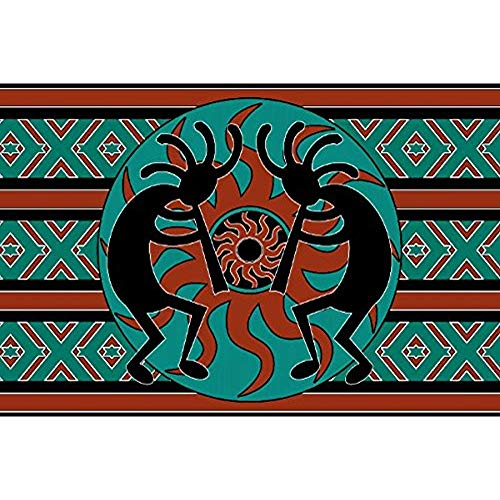 mevrouw Kitten Tribal Aztec Kokopelli Southwest Design deurmat