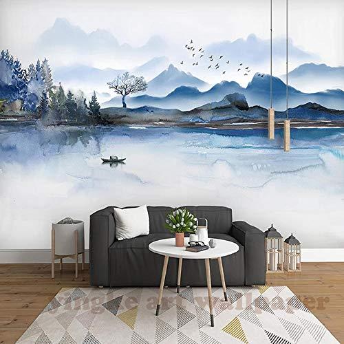 Afashiony Taille Personnalisée Photo 3D Encre Paysage PeinturePapier Peint Vivant AînéChambre Chambre Étude Restaurant Café Mural Papier Peint-250Cmx175Cm