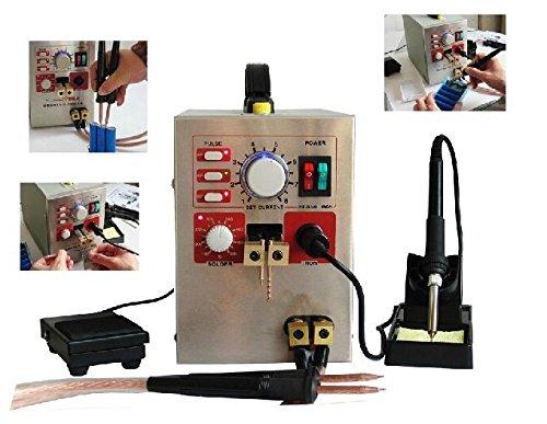 Gowe miniature Pulse batterie au lithium à pédale spot soudure Touch, soudure, tenant un spot soudeur fer à souder.