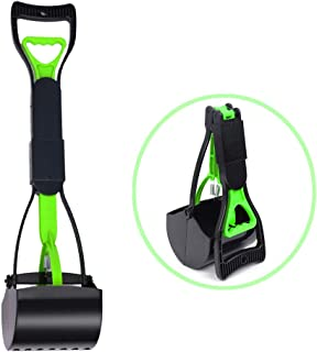 BinetGo Dog Pooper Scooper Foldable Pet Poop Scooper Dog Waste Pickup Sanitary Removal with Long Handle Top Paw Jaws 24 Inches