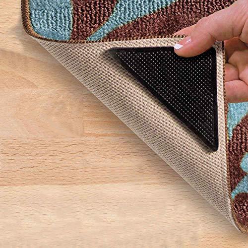 CULER 4 Paar Teppich Gripper Reusable Teppichmatte Greifer Anti-rutsch Anti-rutsch-Gummi Waschbar Aufkleber Teppich Stopper Für Fliesenböden Holzfußböden Badteppiche