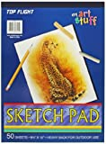 Top Flight Sketch Pad, Heavy Back, 8.75 x 12-Inches, 50 Sheets (62301), Cover may vary