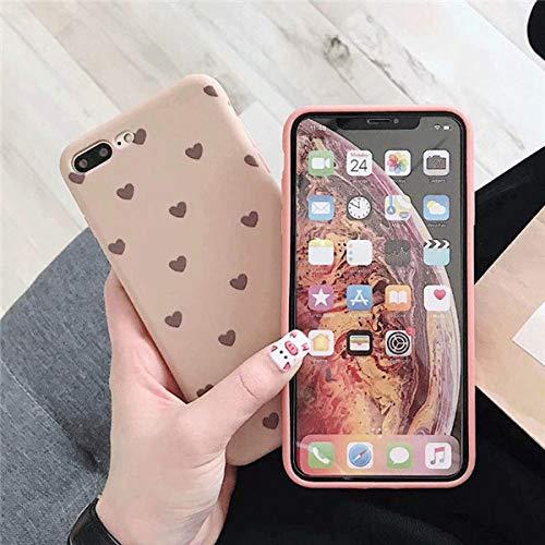 JHDTJHG telefoonhoesje voor iPhone X XS, maximale XR, zachte TPU, afdekking aan de achterkant voor iPhone 6 6s 7 8 Plus X, beschermende case