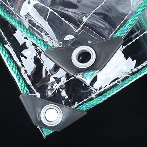 Bache Transparente Fort 100% Impermeable Bache de Toit de Bateaux bache Couvre-Feuilles avec Oeillets en métal PVC en Plastique pour Le Camping, la pêche et Le Jardinage
