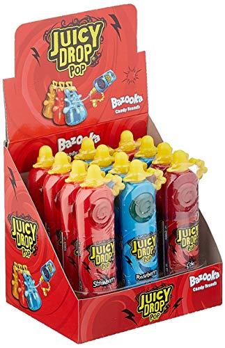 DOK Juicy Drop Pop Display Kombination Flüssigcandy und Lolli mit dem fruchtig sauren Kick, 12 Stück