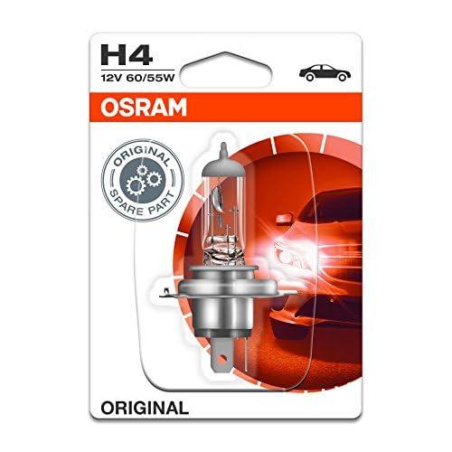 OSRAM Original 12V H4 Lampada alogena per proiettori 64193-01B - Blister singolo