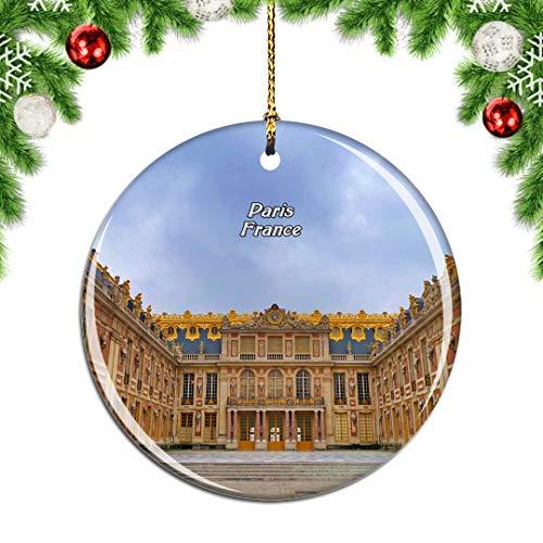 Weekino France Versailles Palace Paris Christmas Xmas Tree Ornament Decoration Hanging Pendant Decor City Travel Souvenir Collection Double Sided Porcelain 2.85 Inch