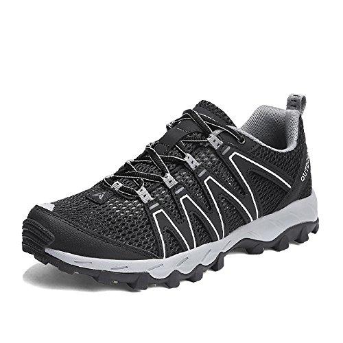 Zapatillas Senderismo Hombre Mujer Zapatillas Trekking Mesh Transpirable Sneakers Casual Zapatillas de Deporte Negro 39