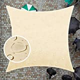 ColourTree 14' x 14' Beige Square Waterproof Sun Shade Sail Canopy Awning...