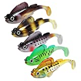 GOTOUR Soft Fishing Lures, Long Casting Jigging Lure, Lifelike Swimbait, Freshwater or Saltwater Soft Lure for Bass Trout Fishing,Fishing Gifts for Men