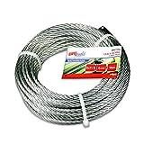 BriTools M86112G Cable acero galvanizado, 4 mm, Set de 10 Piezas