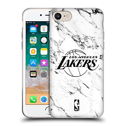 Head Case Designs Ufficiale NBA Bianco Marmoreo 2018/19 Los Angeles Lakers Cover in Morbido Gel Compatibile con Apple iPhone 7 / iPhone 8 / iPhone SE 2020