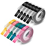 Absonic Compatible Label Tape Replacement for Dymo 3D Embossing Label Tape 9mm 3/8' Plastic Colored for DYMO Organizer Xpress Pro 12965 Junior Office-Mate II Embossing Label Maker, (9.8') 3m, 10-Pack