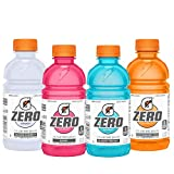 Gatorade Zero Sugar Thirst Quencher, 4 Flavor Variety Pack, 12 Fl Oz, Pack of 24